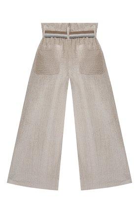 Детские хлопковые брюки BRUNELLO CUCINELLI серого цвета, арт. BB543P024C | Фото 2