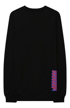 Детский хлопковый свитшот NEIL BARRETT KIDS черного цвета, арт. 026024 | Фото 2