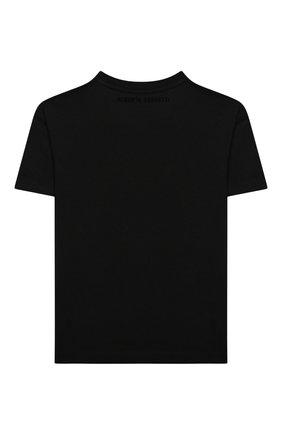 Детская хлопковая футболка ALBERTA FERRETTI JUNIOR черного цвета, арт. 025391 | Фото 2