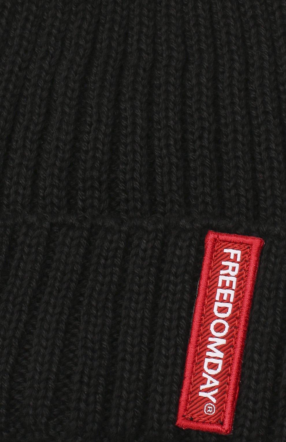 Детского шапка FREEDOMDAY черного цвета, арт. IFRJB825Z8-05 | Фото 3