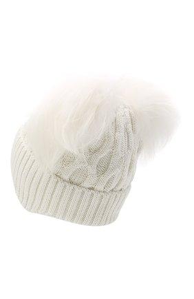 Детского шапка с меховым помпоном FREEDOMDAY белого цвета, арт. IFRJG642Z8-05-RFCF | Фото 2