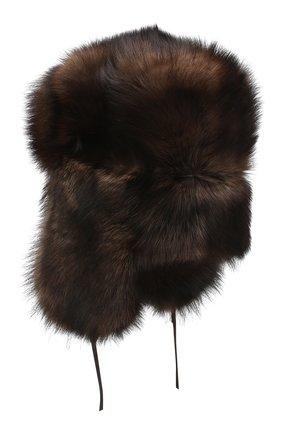 Шапка-ушанка из меха фишера | Фото №2