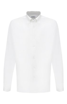 Мужская хлопковая рубашка SONRISA белого цвета, арт. IFJ7167/J133   Фото 1