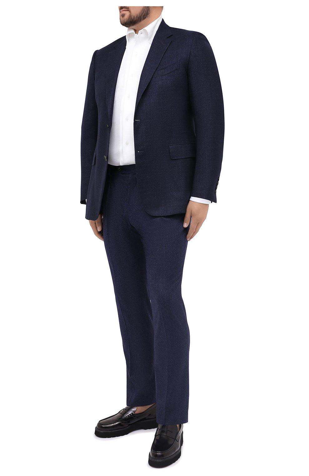 Мужская хлопковая рубашка SONRISA белого цвета, арт. IFJ7167/J133   Фото 2 (Big sizes: Big Sizes; Рукава: Длинные; Рубашки М: Regular Fit; Случай: Повседневный; Длина (для топов): Стандартные; Материал внешний: Хлопок; Стили: Кэжуэл)