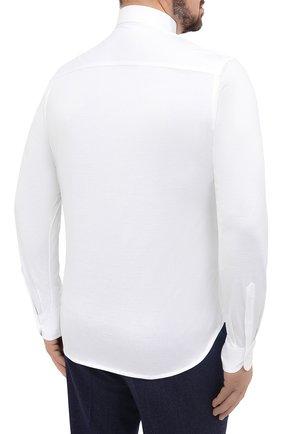 Мужская хлопковая рубашка SONRISA белого цвета, арт. IFJ7167/J133   Фото 4 (Big sizes: Big Sizes; Рукава: Длинные; Рубашки М: Regular Fit; Случай: Повседневный; Длина (для топов): Стандартные; Материал внешний: Хлопок; Стили: Кэжуэл)