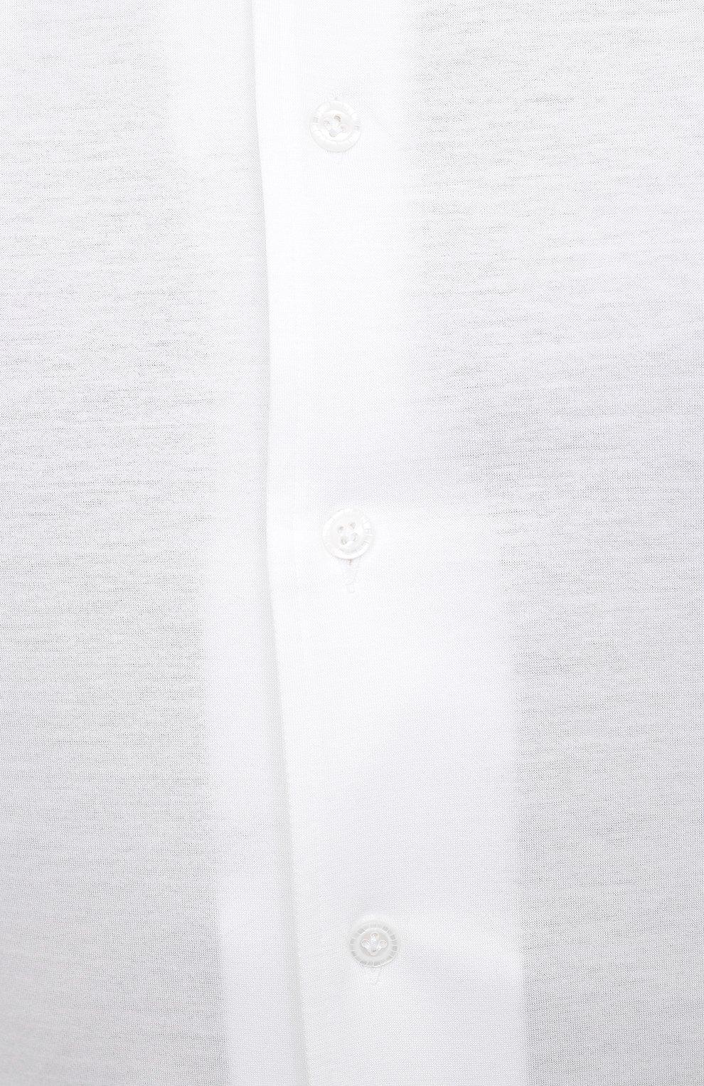 Мужская хлопковая рубашка SONRISA белого цвета, арт. IFJ7167/J133   Фото 5 (Big sizes: Big Sizes; Рукава: Длинные; Рубашки М: Regular Fit; Случай: Повседневный; Длина (для топов): Стандартные; Материал внешний: Хлопок; Стили: Кэжуэл)