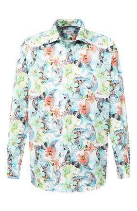 Мужская хлопковая рубашка ETON зеленого цвета, арт. 1000 01433 | Фото 1