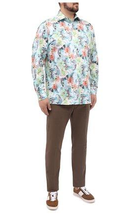 Мужская хлопковая рубашка ETON зеленого цвета, арт. 1000 01433 | Фото 2