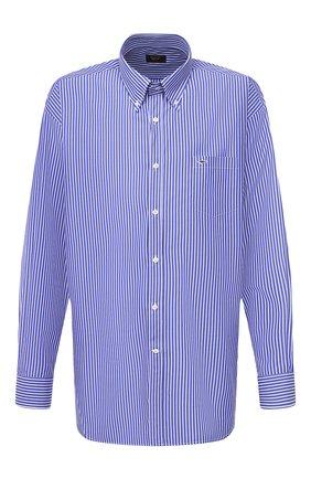Мужская хлопковая рубашка PAUL&SHARK синего цвета, арт. C0P3005/C00   Фото 1