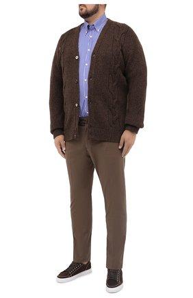 Мужская хлопковая рубашка PAUL&SHARK синего цвета, арт. C0P3005/C00   Фото 2