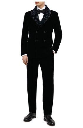 Мужской брюки GIORGIO ARMANI темно-синего цвета, арт. 0WGPP0E4/T0025 | Фото 2
