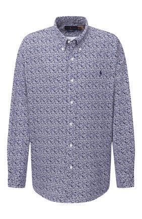 Мужская хлопковая рубашка POLO RALPH LAUREN синего цвета, арт. 711781390/PRL BS | Фото 1