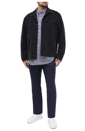 Мужская хлопковая рубашка POLO RALPH LAUREN синего цвета, арт. 711781390/PRL BS | Фото 2