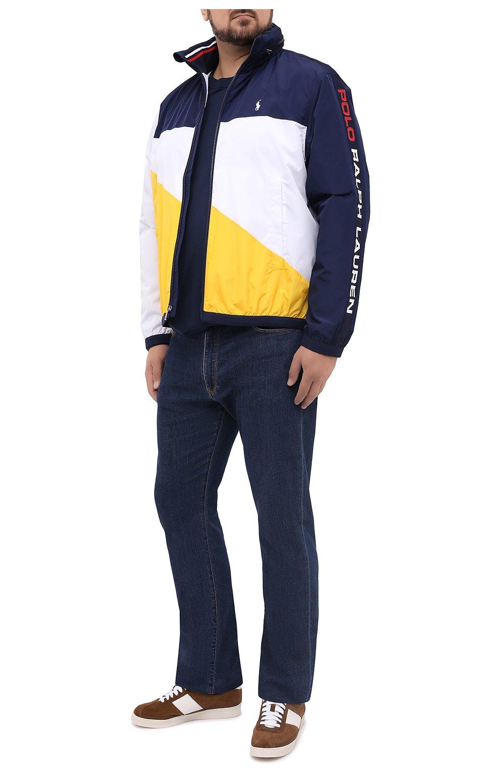 Мужская куртка POLO RALPH LAUREN разноцветного цвета, арт. 711803374/PRL BS   Фото 2 (Кросс-КТ: Куртка, Ветровка; Big sizes: Big Sizes; Рукава: Длинные; Материал внешний: Синтетический материал; Мужское Кросс-КТ: Куртка-верхняя одежда, Верхняя одежда; Материал подклада: Синтетический материал; Длина (верхняя одежда): Короткие; Стили: Кэжуэл)