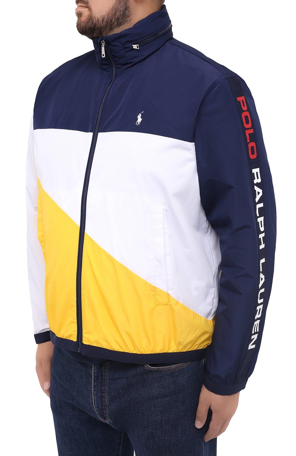 Мужская куртка POLO RALPH LAUREN разноцветного цвета, арт. 711803374/PRL BS   Фото 3 (Кросс-КТ: Куртка, Ветровка; Big sizes: Big Sizes; Рукава: Длинные; Материал внешний: Синтетический материал; Мужское Кросс-КТ: Куртка-верхняя одежда, Верхняя одежда; Материал подклада: Синтетический материал; Длина (верхняя одежда): Короткие; Стили: Кэжуэл)