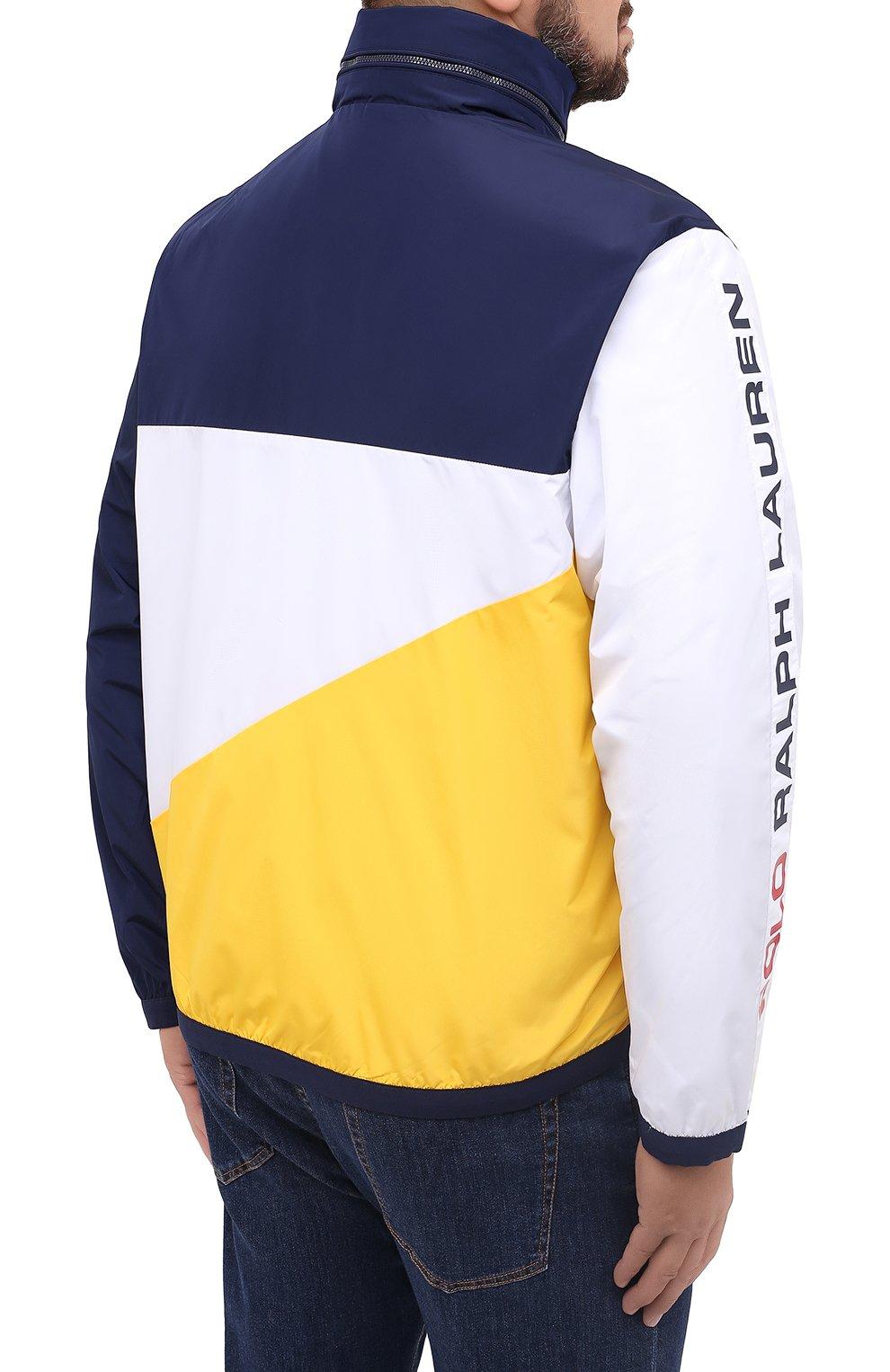 Мужская куртка POLO RALPH LAUREN разноцветного цвета, арт. 711803374/PRL BS   Фото 4 (Кросс-КТ: Куртка, Ветровка; Big sizes: Big Sizes; Рукава: Длинные; Материал внешний: Синтетический материал; Мужское Кросс-КТ: Куртка-верхняя одежда, Верхняя одежда; Материал подклада: Синтетический материал; Длина (верхняя одежда): Короткие; Стили: Кэжуэл)