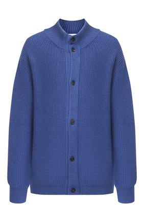 Мужской шерстяной кардиган CRUCIANI синего цвета, арт. CU26.241/60-68 | Фото 1 (Материал внешний: Шерсть; Рукава: Длинные; Big sizes: Big Sizes; Стили: Классический)