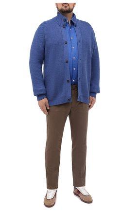 Мужской шерстяной кардиган CRUCIANI синего цвета, арт. CU26.241/60-68 | Фото 2 (Материал внешний: Шерсть; Рукава: Длинные; Big sizes: Big Sizes; Стили: Классический)