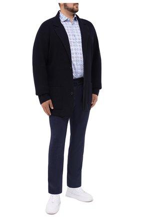 Мужской шерстяной кардиган CRUCIANI темно-синего цвета, арт. CU26.250/60-68 | Фото 2