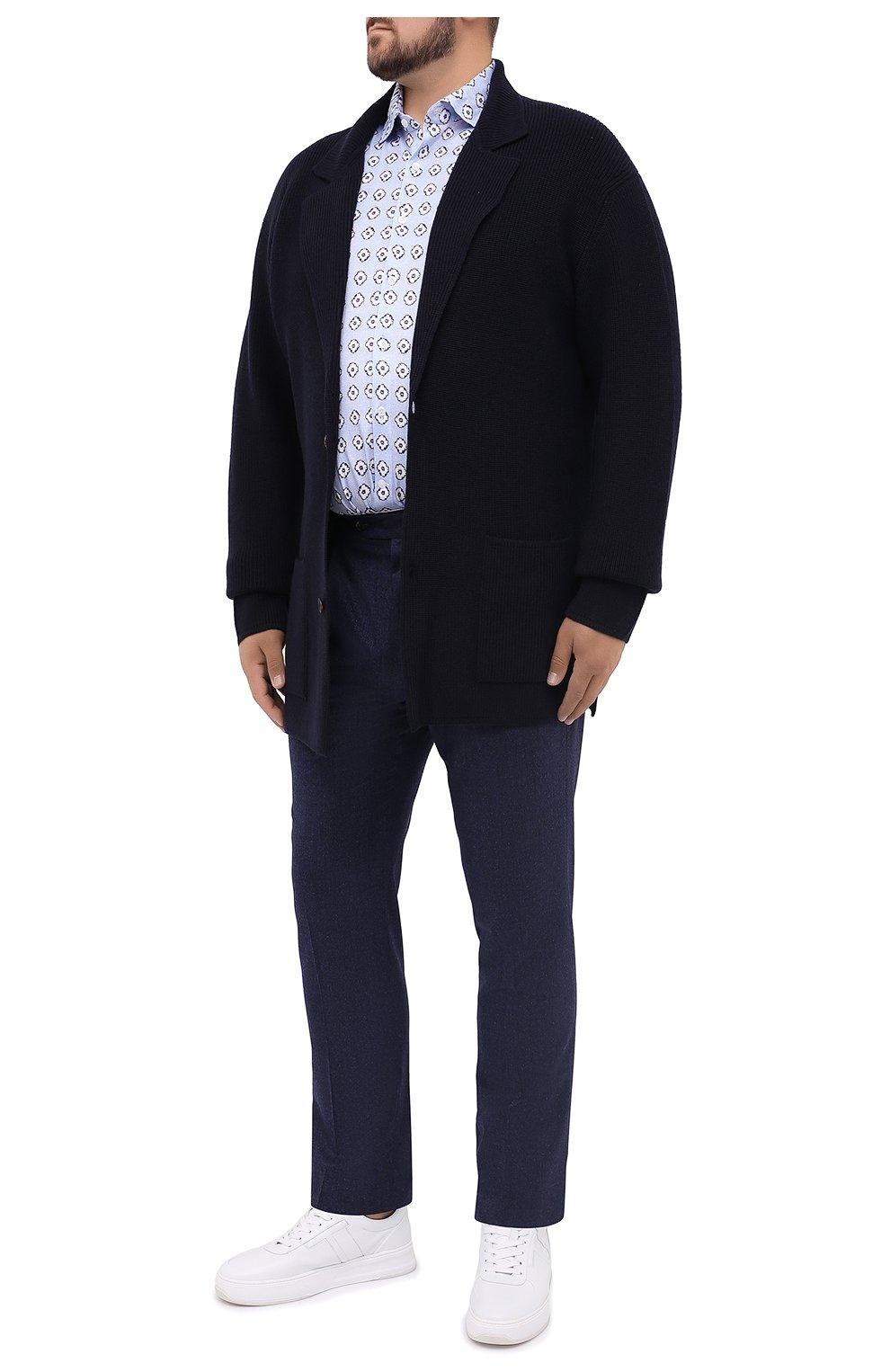 Мужская хлопковая рубашка SONRISA голубого цвета, арт. IFJ15/J812/47-51 | Фото 2