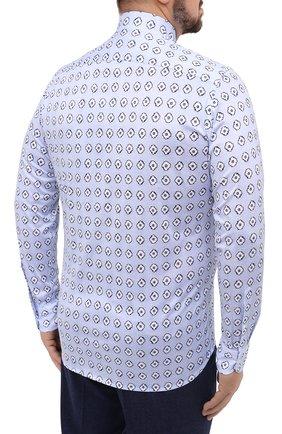 Мужская хлопковая рубашка SONRISA голубого цвета, арт. IFJ15/J812/47-51 | Фото 4
