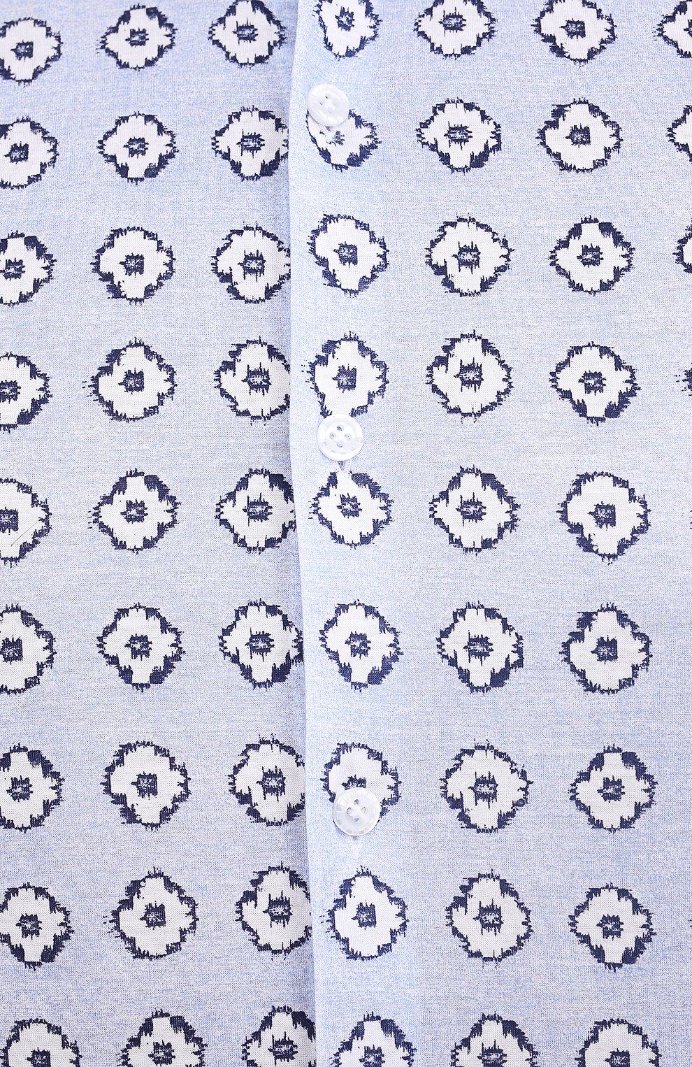 Мужская хлопковая рубашка SONRISA голубого цвета, арт. IFJ15/J812/47-51 | Фото 5