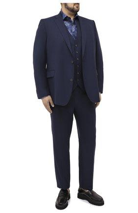 Мужской шерстяной костюм-тройка EDUARD DRESSLER синего цвета, арт. N283/16029 | Фото 1