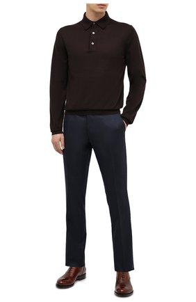 Мужское поло из кашемира и шелка TOM FORD темно-коричневого цвета, арт. BVH99/TFK132 | Фото 2