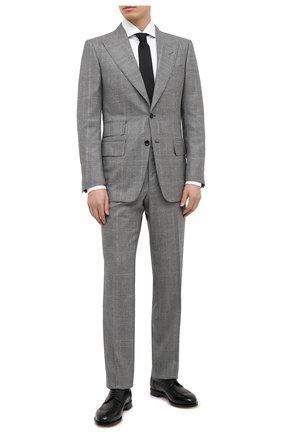 Мужской шерстяной костюм TOM FORD серого цвета, арт. 822R34/21AL43 | Фото 1