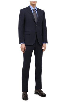 Мужская хлопковая сорочка TOM FORD синего цвета, арт. QFT193/94S1JE | Фото 2 (Материал внешний: Хлопок; Рукава: Длинные; Длина (для топов): Стандартные; Случай: Формальный; Рубашки М: Regular Fit; Стили: Классический; Воротник: Кент)