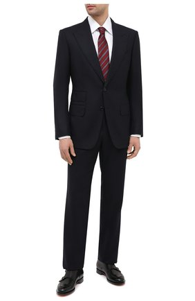 Мужская хлопковая сорочка TOM FORD белого цвета, арт. QFT190/94S1JE | Фото 2 (Материал внешний: Хлопок; Длина (для топов): Стандартные; Случай: Формальный; Воротник: Кент; Рубашки М: Regular Fit; Рукава: Длинные; Стили: Классический; Мужское Кросс-КТ: Сорочка-одежда; Принт: Однотонные; Манжеты: На пуговицах)