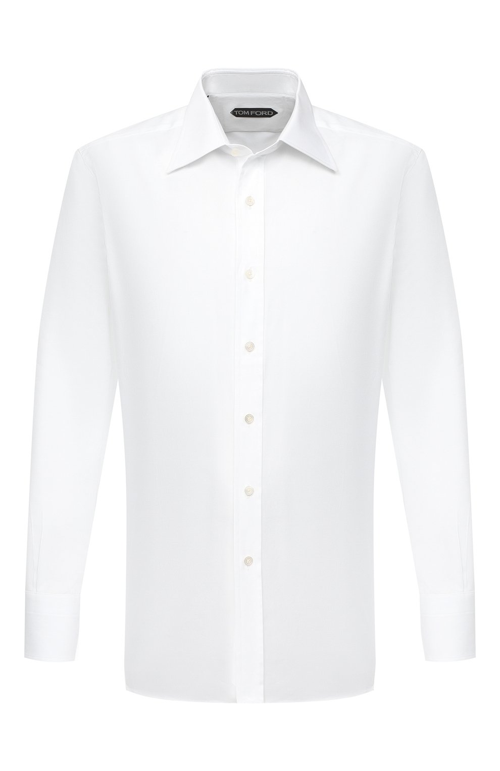 Мужская хлопковая сорочка TOM FORD белого цвета, арт. QFT190/94C1JE | Фото 1
