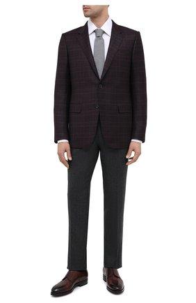 Мужская хлопковая сорочка TOM FORD белого цвета, арт. QFT190/94C1JE | Фото 2 (Рукава: Длинные; Длина (для топов): Стандартные; Материал внешний: Хлопок; Случай: Формальный; Рубашки М: Classic Fit; Стили: Классический; Воротник: Кент)