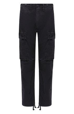 Мужские хлопковые брюки-карго RRL черного цвета, арт. 782796396 | Фото 1 (Материал внешний: Хлопок; Длина (брюки, джинсы): Стандартные; Силуэт М (брюки): Карго; Случай: Повседневный)