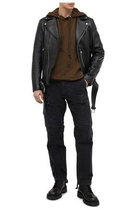 Мужские хлопковые брюки-карго RRL черного цвета, арт. 782796396 | Фото 2 (Материал внешний: Хлопок; Длина (брюки, джинсы): Стандартные; Силуэт М (брюки): Карго; Случай: Повседневный)