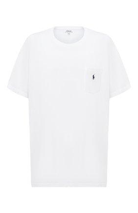 Мужская хлопковая футболка POLO RALPH LAUREN белого цвета, арт. 711548533/PRL BS | Фото 1 (Материал внешний: Хлопок; Рукава: Короткие; Мужское Кросс-КТ: Футболка-одежда; Принт: Без принта; Стили: Кэжуэл; Big sizes: Big Sizes; Длина (для топов): Удлиненные)
