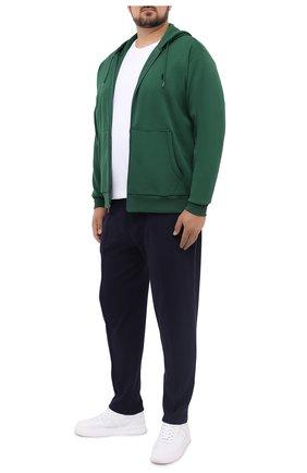 Мужская хлопковая футболка POLO RALPH LAUREN белого цвета, арт. 711548533/PRL BS | Фото 2 (Материал внешний: Хлопок; Рукава: Короткие; Мужское Кросс-КТ: Футболка-одежда; Принт: Без принта; Стили: Кэжуэл; Big sizes: Big Sizes; Длина (для топов): Удлиненные)