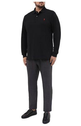 Мужское хлопковое поло POLO RALPH LAUREN черного цвета, арт. 711680792/PRL BS | Фото 2