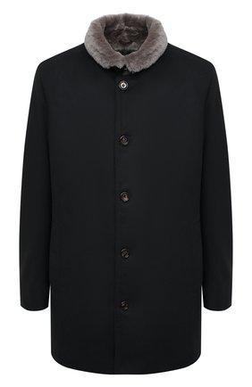 Мужской пальто из шерсти и кашемира GIMO'S темно-синего цвета, арт. 20AI.0.360.TLC/58-60 | Фото 1