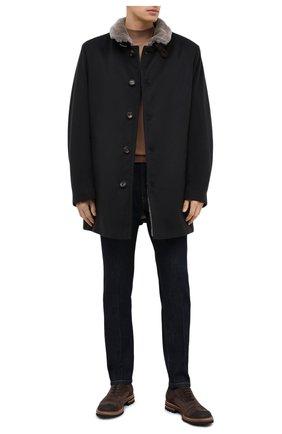 Мужской пальто из шерсти и кашемира GIMO'S темно-синего цвета, арт. 20AI.0.360.TLC/58-60 | Фото 2