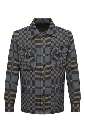 Мужская хлопковая куртка RRL разноцветного цвета, арт. 782799929 | Фото 1 (Длина (верхняя одежда): Короткие; Рукава: Длинные; Материал внешний: Хлопок; Мужское Кросс-КТ: Куртка-верхняя одежда, Верхняя одежда; Стили: Кэжуэл; Кросс-КТ: Ветровка, Куртка)