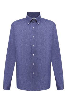 Мужская хлопковая рубашка SONRISA темно-синего цвета, арт. IFJ7167/J134/47-51 | Фото 1
