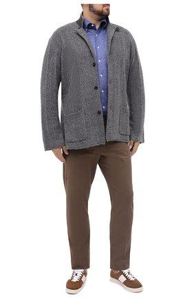 Мужская хлопковая рубашка SONRISA темно-синего цвета, арт. IFJ7167/J134/47-51 | Фото 2