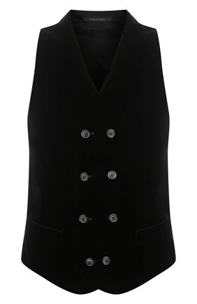 Мужской жилет GIORGIO ARMANI черного цвета, арт. 0WGGK01T/T0025   Фото 1