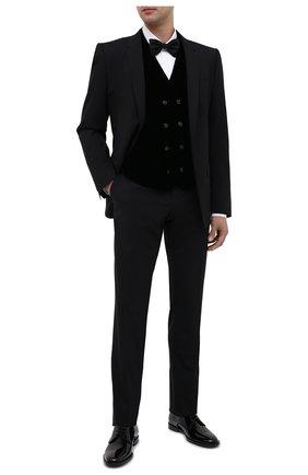 Мужской жилет GIORGIO ARMANI черного цвета, арт. 0WGGK01T/T0025   Фото 2