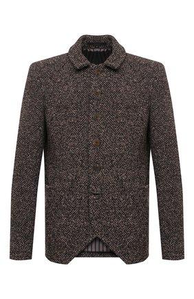 Мужской пиджак из кашемира и шелка GIORGIO ARMANI бежевого цвета, арт. 0WGGG0IC/T026B   Фото 1