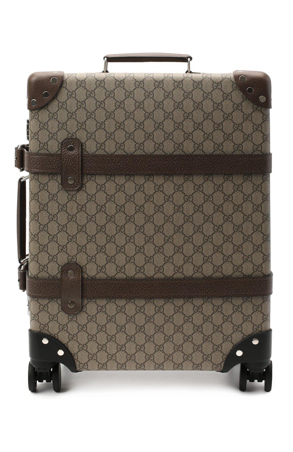 Мужской дорожный чемодан globe-trotter GUCCI бежевого цвета, арт. 533618/9VEFW | Фото 1