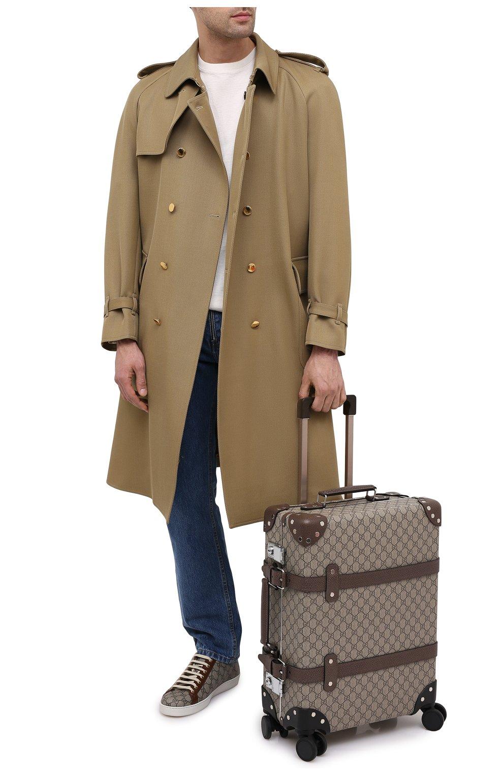 Мужской дорожный чемодан globe-trotter GUCCI бежевого цвета, арт. 533618/9VEFW | Фото 2