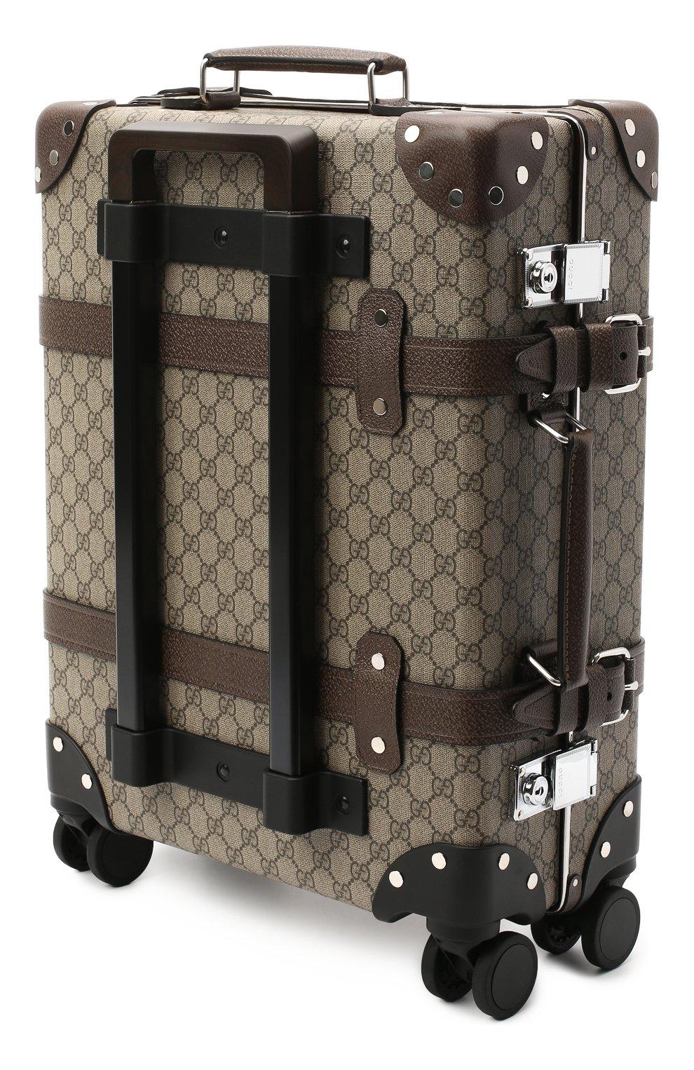 Мужской дорожный чемодан globe-trotter GUCCI бежевого цвета, арт. 533618/9VEFW | Фото 3