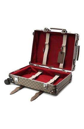 Мужской дорожный чемодан globe-trotter GUCCI бежевого цвета, арт. 533618/9VEFW | Фото 4